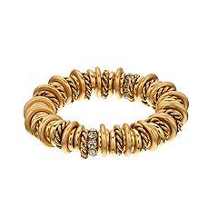 Dana Buchman Mixed Ring Stretch Bracelet