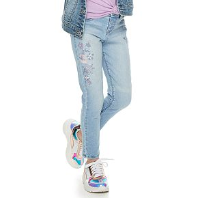 Girls 4-12 SONOMA Goods for Life? Floral Embroidered Skinny Jeans