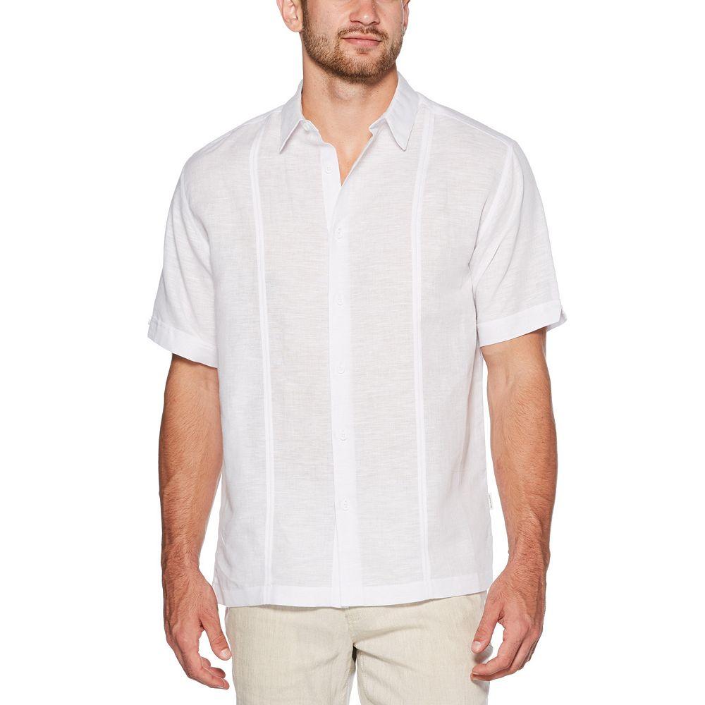Men's Cubavera Short Sleeve Linen Cotton with Tucks