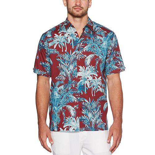 Men's Cubavera Palm Print Shirt