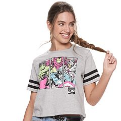 a32d599c6e5dea Juniors  Avengers Crop Graphic Tee