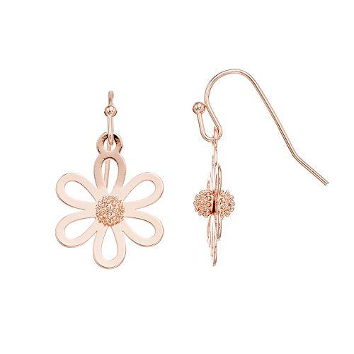 LC Lauren Conrad Flower Drop Earrings