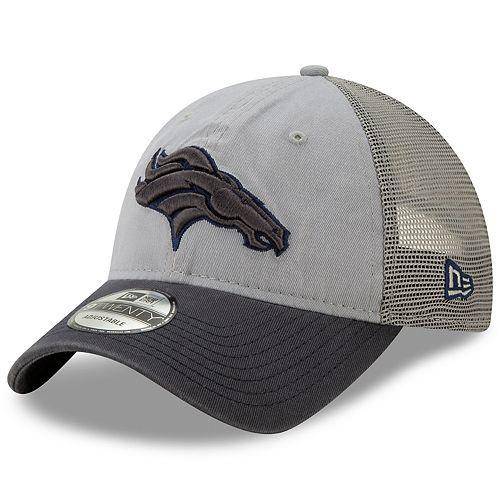 Men's New Era Denver Broncos 9Twenty Grayed Pop Cap