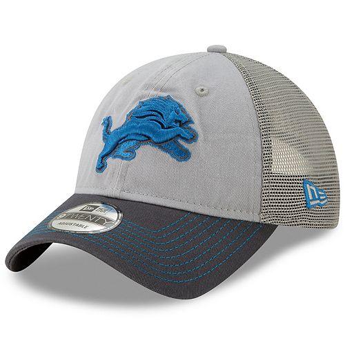 Men's New Era Detroit Lions 9Twenty Grayed Pop Cap