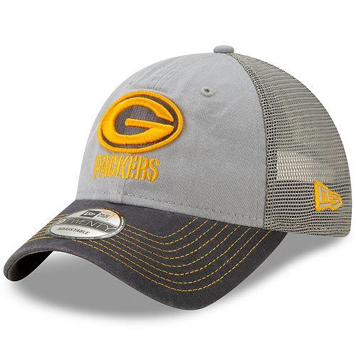 Men's New Era Green Bay Packers 9Twenty Grayed Pop Cap