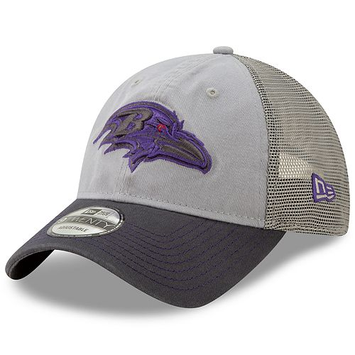 Men's New Era Baltimore Ravens 9Twenty Grayed Pop Cap