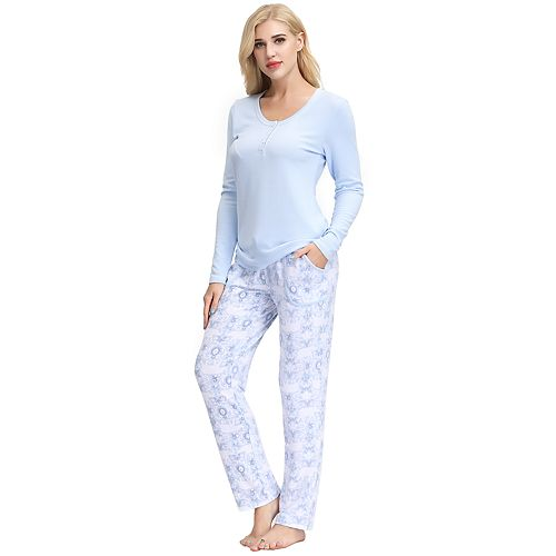 Women's INK+IVY Sleep Henley & Slim Sleep Pants Set