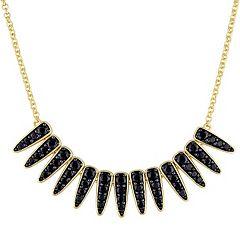 Stella Grace 18k Gold Over Silver Black Sapphire Mystique Necklace