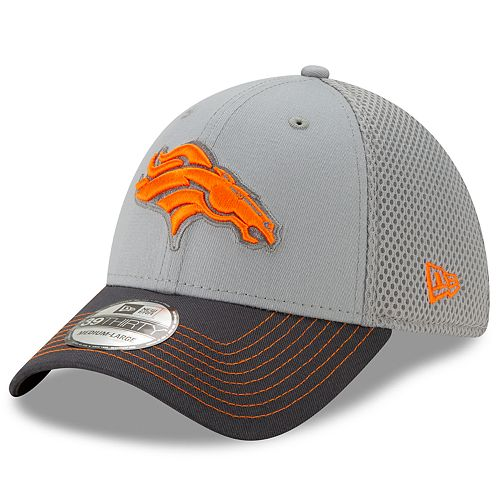 Men's New Era Denver Broncos 39Thirty Slice Gray NEO Cap