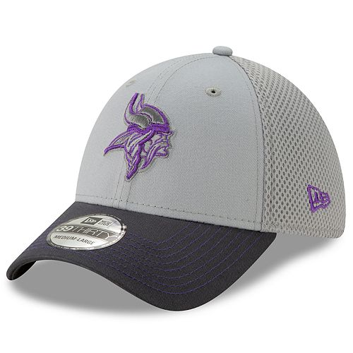 Men's New Era Minnesota Vikings 39Thirty Slice Gray NEO Cap