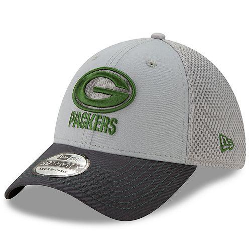 Men's New Era Green Bay Packers 39Thirty Slice Gray NEO Cap