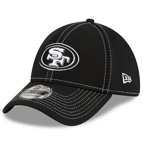 Men's New Era® San Francisco 49ers 39Thirty On-Field Sideline Away Cap - Black