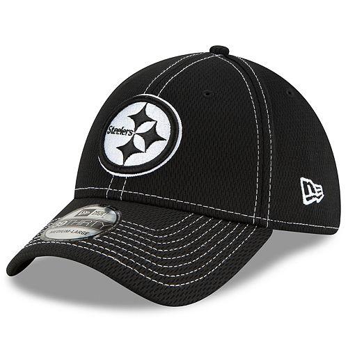 Men's New Era® Pittsburgh Steelers 39Thirty On-Field Sideline Away Cap - Black