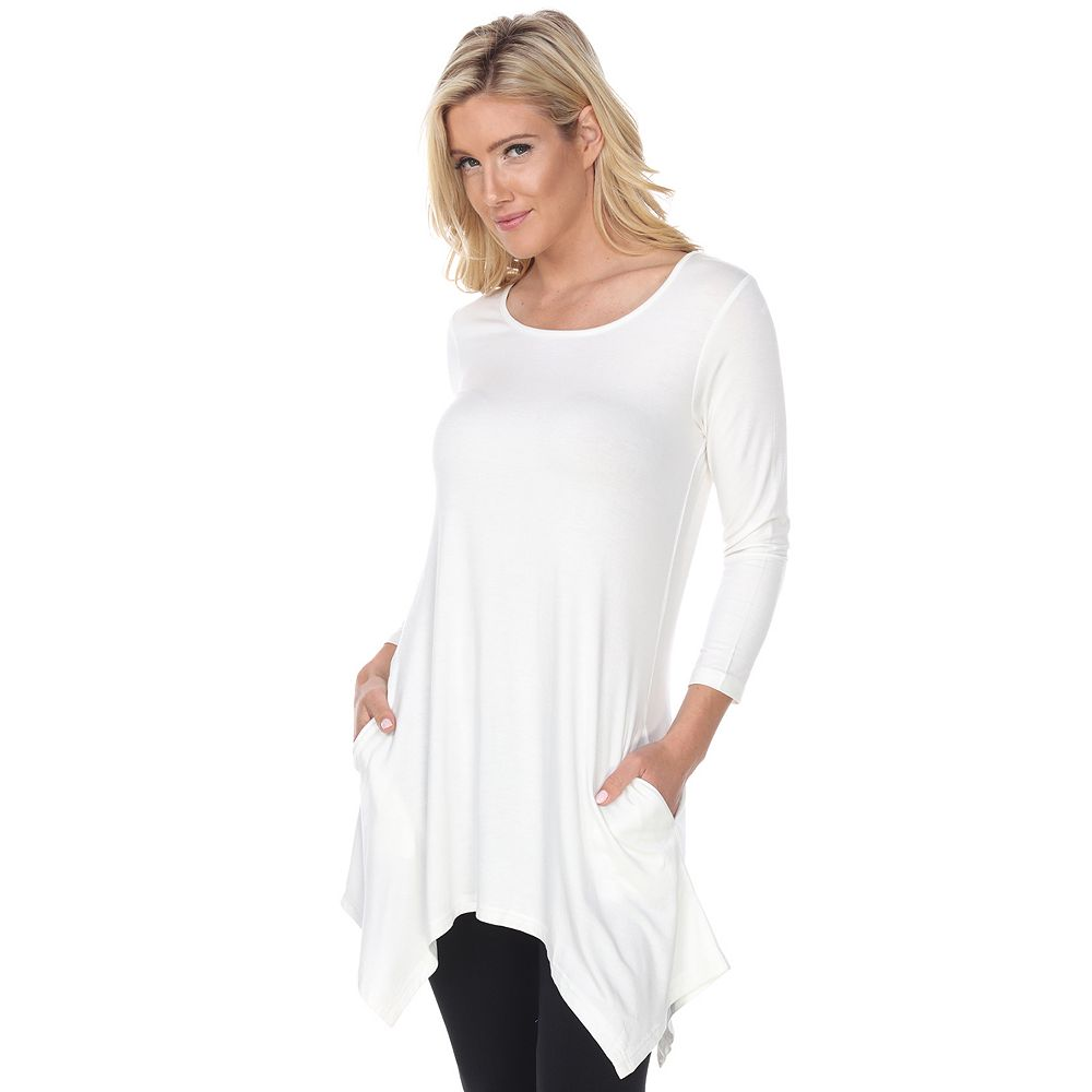 Women's White Mark Makayla Pocket Tunic Top