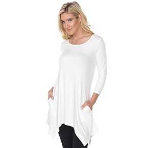 Women's White Mark Makayla Pocket Tunic Top
