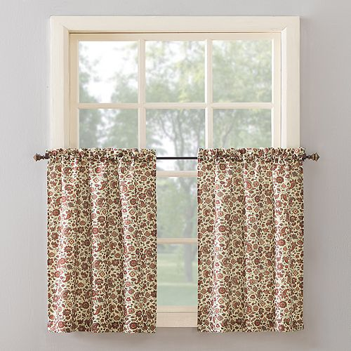 Top of the Window Kobi Floral Paisley Kitchen Tier Pair