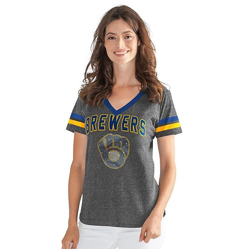 Womens G-III Sports Milwaukee Brewers Walk Off Tee