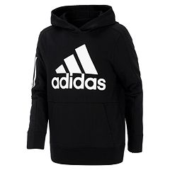 3a1ec3800ea2 Boys 8-20 adidas Pullover Hoodie. Black Gray Heather