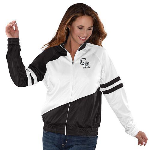 Womens G-III Sports Colorado Rockies Perfect Pitch Track Jacket