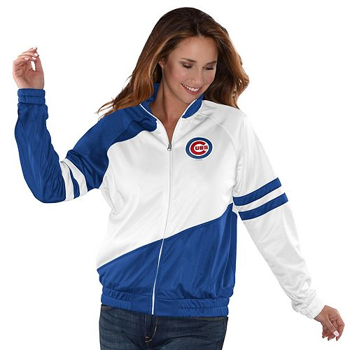 Womens G-III Sports Chicago Cubs Perfect Pitch Track Jacket