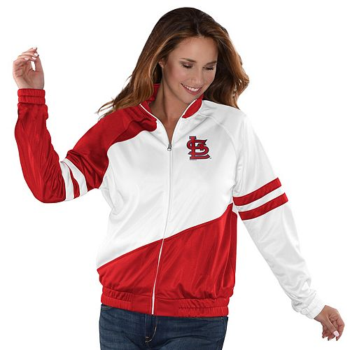 Womens G-III Sports St. Louis Cardinals Perfect Pitch Track Jacket