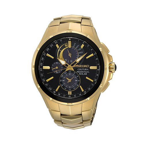 Seiko Men's Coutura Stainless Steel Solar Chronograph Watch - SSC700