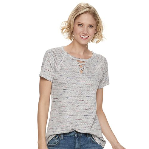 Women's SONOMA Goods for Life™ Waffle Knit Criss-Cross Top