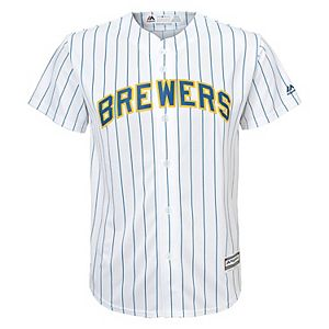 the latest 76906 14ac6 Boys 8-20 Milwaukee Brewers Yelich Replica Home Jersey