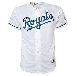 best website 0318a cb5c5 Boys 8-20 Kansas City Royals Home Replica Jersey