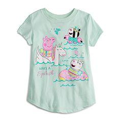Girls 4-12 Jumping Beans® Peppa Pig Glittery Graphic Tee