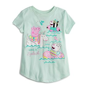 Girls 4-12 Jumping Beans® Peppa Pig Glittery Graphic Tee