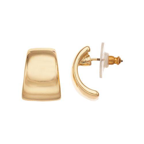 Dana Buchman Gold-Tone Smooth Button Earrings