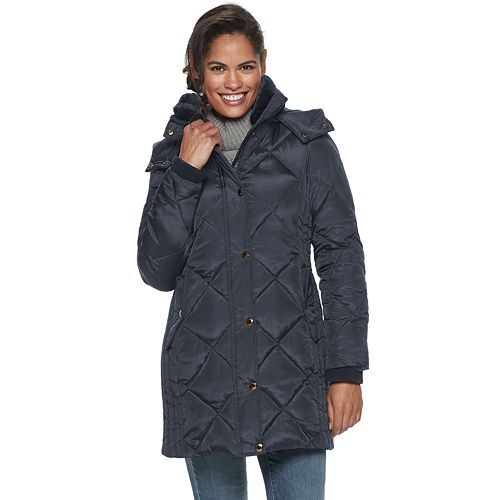 Petite TOWER by London Fog Quilted Hooded Puffer Jacket
