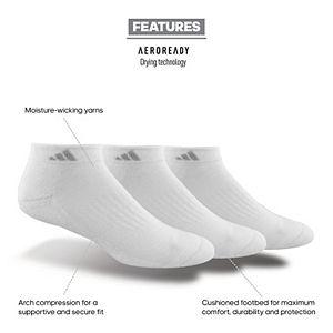 Adidas Women's Cushioned II 3-Pack Low Cut Sock