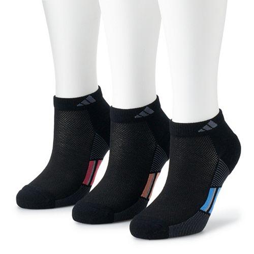 Adidas Women's Superlite Stripe 3-Pack Low Cut Sock