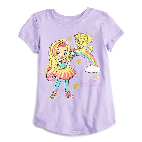 Girls 4-12 Jumping Beans® Sunny Day Rainbow Graphic Tee