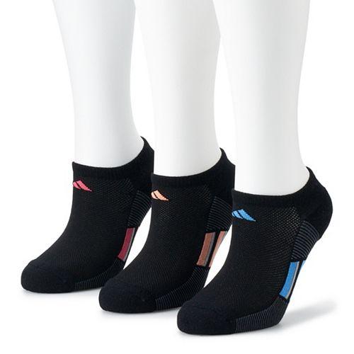 Adidas Women's Superlite Stripe 3-Pack No Show Sock