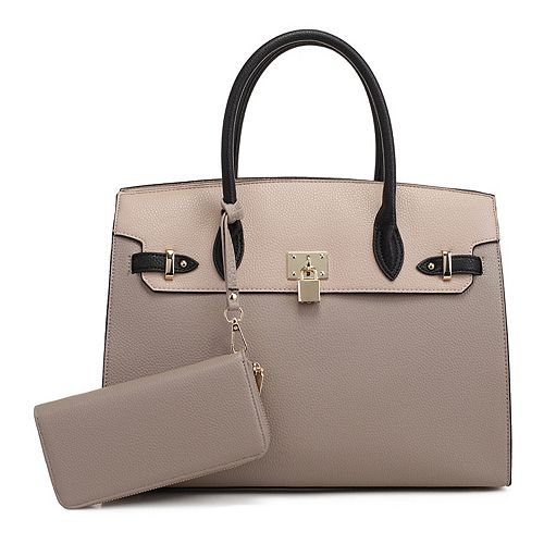 Deluxity Large Satchel with Matching Wallet