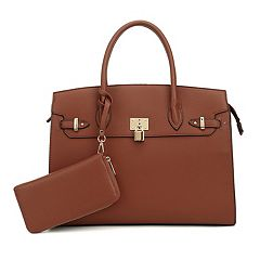 Deluxity Satchel with Matching Wallet