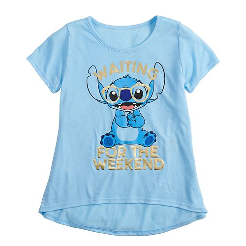 Girls 7-16 Disney's Lilo & Stitch Weekend Stitch Graphic Tee