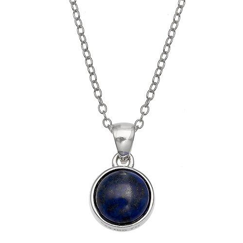 PRIMROSE Sterling Silver Gemstone Pendant Necklace