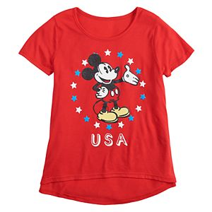Girls 7-16 & Plus Size Disney's Mickey Mouse USA Graphic Tee