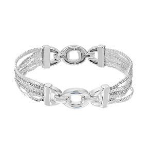 Dana Buchman Silver-Tone Chain Stretch Bracelet