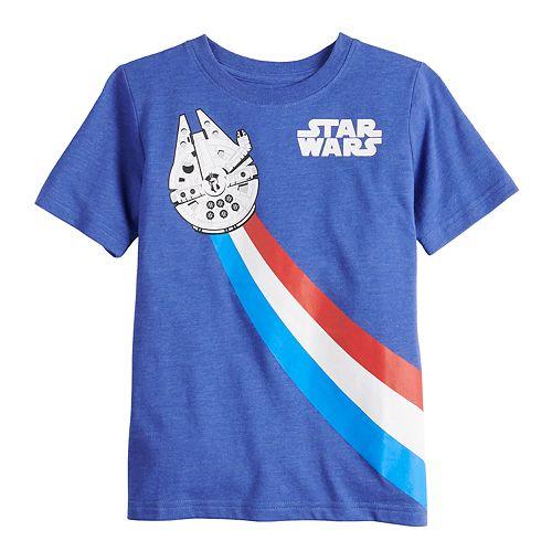 Boys 4-7 Family Fun Star Wars Millennium Falcon Graphic Tee