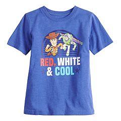 f46754f956cd9 Disney / Pixar's Toy Story Boys 4-7 Woody & Buzz Lightyear Graphic Tee by