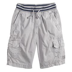 Boys 8-20 Urban Pipeline™ Knit-Waistband Pull-On Cargo Shorts In Husky & Regular