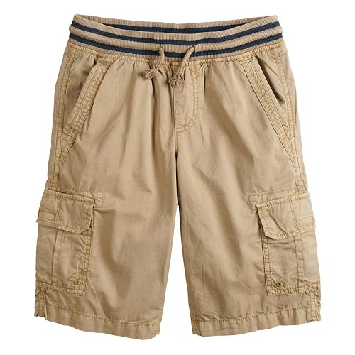 Boys 8-20 Urban Pipeline™ Knit-Waistband Pull-On Cargo Shorts In Husky & Regular