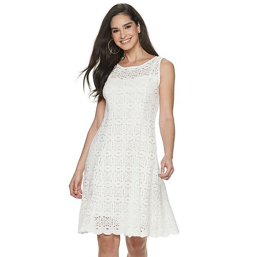 Women's Apt. 9® Sleeveless Lace Medallion Dress