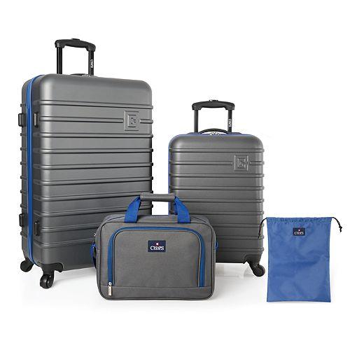 Chaps Monroe 4-Piece Hardside Spinner Luggage Set