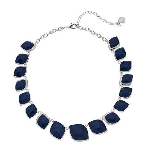 Dana Buchman Blue Simulated Crystal Collar Necklace